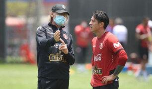 Técnico Ricardo Gareca dirigió entrenamiento a pocas horas del Perú vs. Argentina