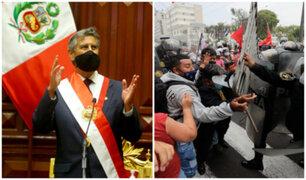 Sagasti sobre abusos en marchas: Vamos a instigar al MP para que continúen investigaciones