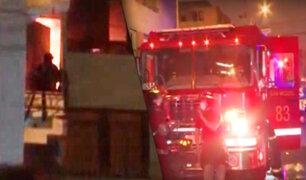 Se registró incendio en vivienda por un corto circuito