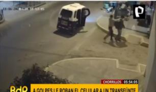 Chorrillos: vecinos son asaltados a golpes por delincuentes