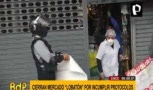 Lince: vecinos fueron sorprendidos por clausura del mercado 'Lobatón'
