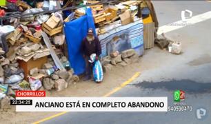 Chorrillos: vecinos piden ayuda para adulto mayor que está en completo abandono
