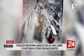 Comas: policía vestido de civil detuvo y redujo a ladrones que asaltaron a joven