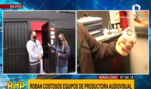 Miraflores: investigan robo de 150 mil soles en equipos de productora
