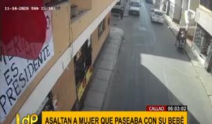 Callao: cobarde delincuente asaltó a mujer con su bebé