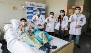 Médicos de Essalud reconstruyen laringe a joven afectado tras accidente