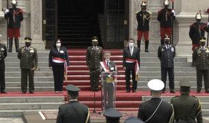 Presidente Sagasti es reconocido como jefe supremo de las FFAA y la PNP