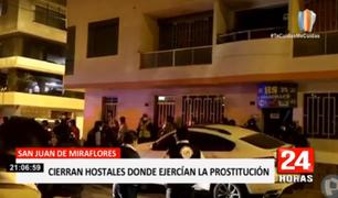 SJM: clausuran hostales que eran usados como prostíbulos clandestinos
