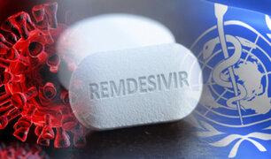 OMS se opone al uso del remdesivir para la COVID-19