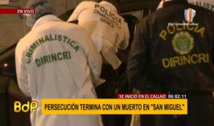 San Miguel: adolescente de 13 años falleció en persecución policial