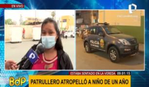 Mujer pide apoyo al Mimp por su niño atropellado por patrullero