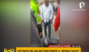 SMP: vecinos casi linchan y dejan inconsciente a 'robacasas' tras sorprenderlo en pleno delito