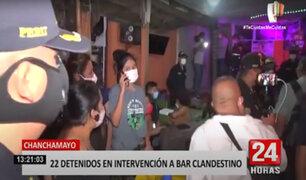 Chanchamayo: intervienen bar clandestino donde se ofrecían servicios sexuales