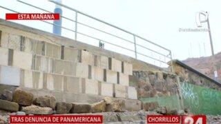 Chorrillos: Colocan muro de concreto en Playa La Herradura tras denuncia de Panamericana Tv