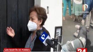 SMP: Vecinos propinan tremenda golpiza a ladrón que ingresó a robar a vivienda de anciana