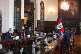 Presidente Sagasti lidera primera sesión del Consejo de Estado