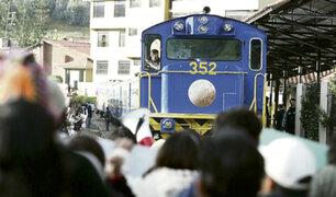 Machu Picchu: desbloquean vía férrea hasta el 12 de enero