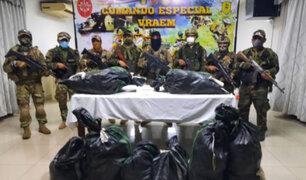 FFAA incautan  más de 200 kilos de clorhidrato de cocaína en el Vraem