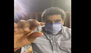 """[VIDEO] Nicolás Maduro presenta la presunta molécula que """"aniquila"""" al 100% el coronavirus"""
