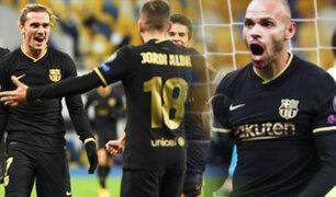 Sin Messi, Barcelona golea al  Dinamo Kiev en la Champions League