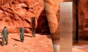 Descubren misterioso monolito de hierro en el desierto de Utah