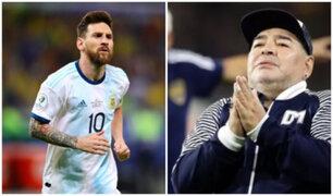 "Lionel Messi sobre Diego Maradona: ""Nos deja, pero no se va"""