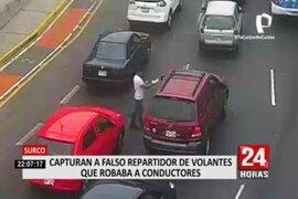 Surco: atrapan a falso repartidor de volantes que robaba a conductores
