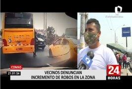 Vecinos denuncian que delincuentes se apoderaron de las calles de Cómas