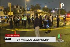 Persecución y balacera dejó un muerto en el Cercado de Lima