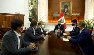 Presidente Francisco Sagasti se reunió con representantes del partido Frente Amplio