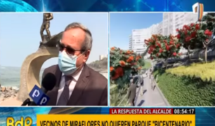 """Alcalde de Miraflores ante protestas por parque Bicentenario: """"Es un tema de racismo"""""""