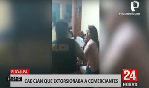 Pucallpa: intervienen a familia de extorsionadores integrada por dos policías