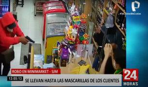 SJM: sujetos armados asaltan minimarket y se llevan pertenencias de los clientes