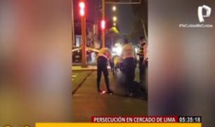 Cercado: abaten a delincuente que momentos antes había secuestrado a un conductor