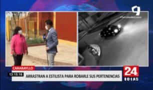 Carabayllo: arrastran a estilista para robarle sus pertenencias
