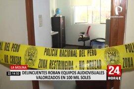La Molina: ladrones roban equipos audiovisuales valorizados en más de 100 mil soles