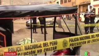 Comas: Asesinan de dos balazos a mototaxista en la primera zona de Collique