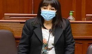 Congreso: Mirtha Vásquez denuncia amenazas por no incluir en el debate tema de la ONP