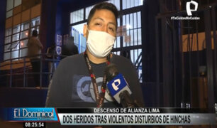 Alianza Lima descendió: Joven resultó herido por bomba lacrimógena cuando pintaba grafiti