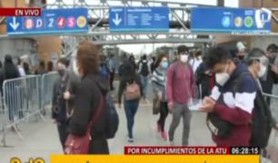 Metropolitano: usuarios en incertidumbre por suspensión del servicio