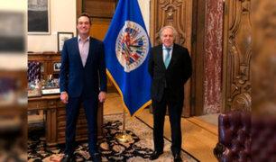 George Forsyth se reunió con secretario general de la OEA en EEUU