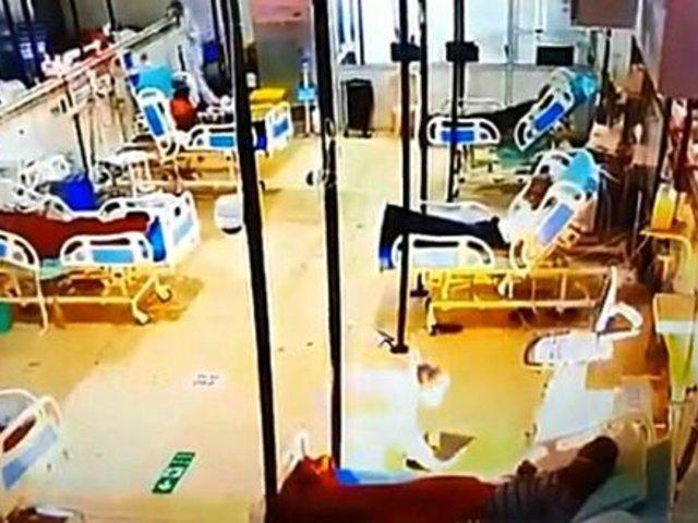 Máquina de oxígeno se incendió al lado de un paciente COVID-19