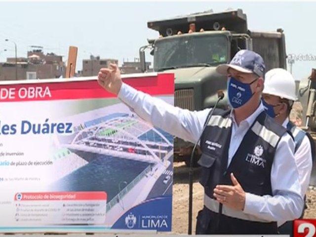 Inician construcción del puente Morales Duárez que unirá San Martín de Porres y Carmen de la Legua