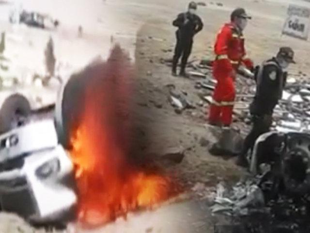 Chofer muere calcinado al incendiarse tráiler en Huaral