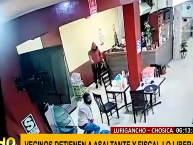 Fiscalía libera en tiempo récord a delincuente capturado en asalto a pollería
