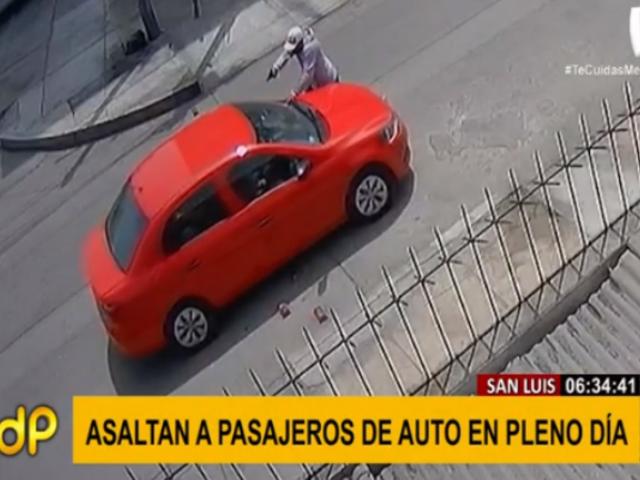 San Luis: vehículos no se salvan de delincuencia a plena luz del día