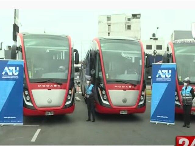 Servicio Semi Expreso 201: Modernos buses entrarán en funcionamiento a partir de este viernes