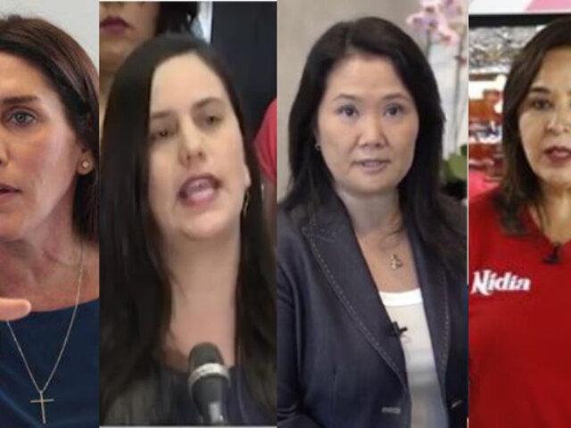 Elecciones 2021: Solo 4 mujeres en lista de 33 precandidatos presidenciales