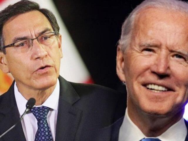 Martín  Vizcarra felicita a Joe Biden por su elección en Estados Unidos