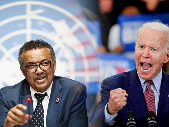 La OMS felicitó a Biden, que prometió detener la salida de EE.UU de la organización